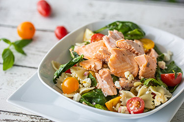 Salmon Farfalle Pasta Salad