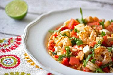 Shrimp Caprese Salad