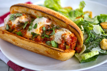 Garlic Meatball Subs