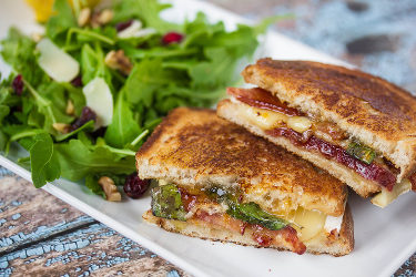 Bacon and Brie Grilled Cheese