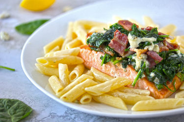 Pan-Seared Gorgonzola Salmon