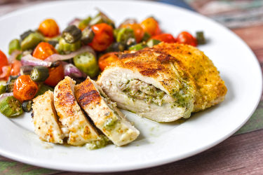 Fontina Cheese Stuffed Chicken