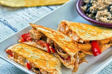 Hawaiian BBQ Chicken Quesadillas